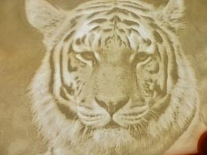 Siberian Tiger Lithophane
