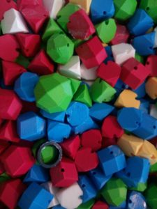 Thanks to Hacklab for this photo: Mathematical Shapes 3D Printed by THREEDY