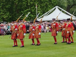 Yeomen of the guard at Buckingham Palace Garden Party